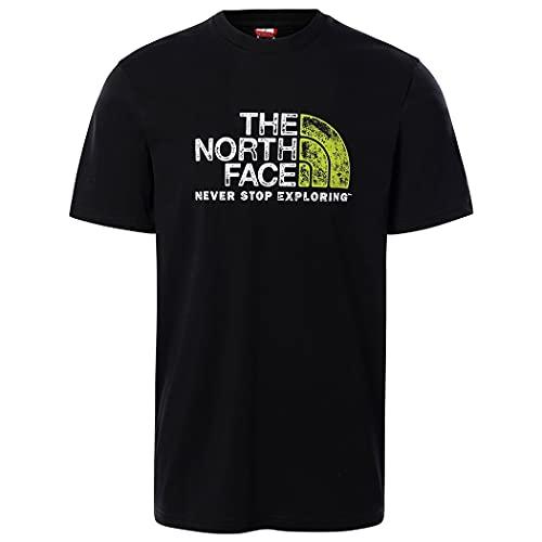 The North Face Men's S/S Rust 2 Tee T-Shirt, Black, XL Uomo