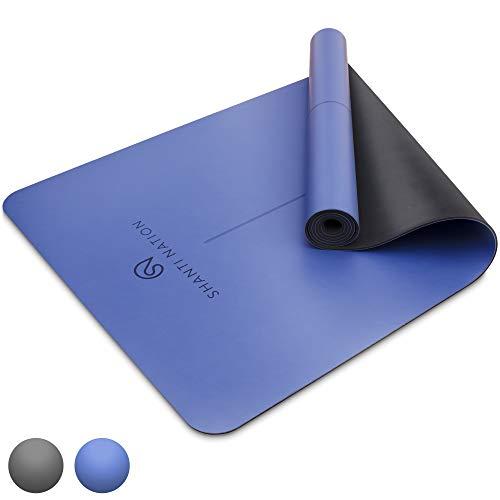 SHANTI NATION - Shanti Mat Pro XL - rutschfeste Yogamatte - extra groß - 195 x 68 x 0,4 cm - mit Naturkautschuk - auch für Pilates & Fitness - Midnight