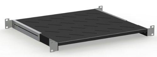 Rack Magic Tablette de rack 2 HE pour rack allant jusqu/à 15 kg et 19 Noir Profondeur 280 mm