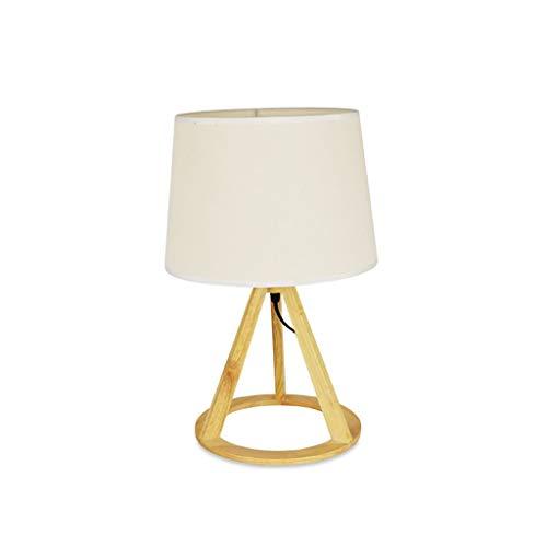 Lámpara Escritorio Simple Nordic Wood Art Eye la tabla de la lámpara Home Office Plug-in Sala de Estudio Tabla dormitorio de la lámpara lámpara de cabecera del dormitorio de la pequeña lámpara de tabl
