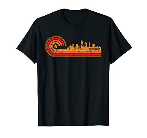 Retro Cleveland Cityscape - Cleveland OH Skyline T-Shirt