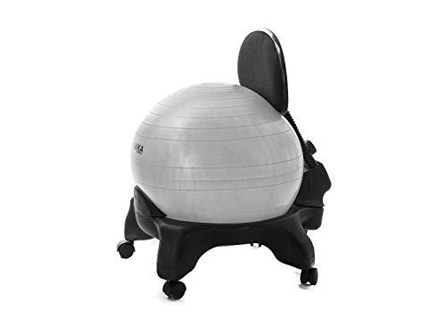 Kikka PLUS Active Chair Grigia - Sedia Ergonomica con Pallone Gonfiabile e Schienale Regolabile