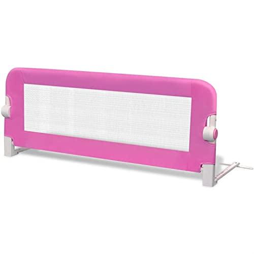 Kstyhome Barandilla de Seguridad Cama de niño Rosa 102x42 cm La barandilla de la Cama es Adecuada para Varias Camas