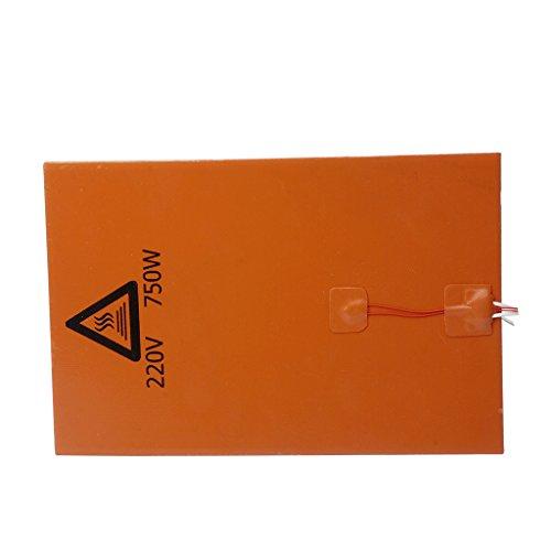 Almencla 3D Druckerteile, 200 X 300 X 3 Mm, 220 V / 750 W, Silikon Heizmatte, Heizbettauflage