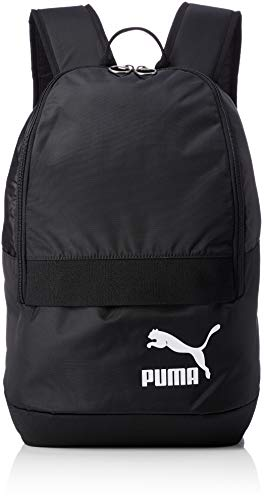 Puma Originals Backpack Tren Mochila, Unisex, 75442, Puma Black-Puma White, Talla única