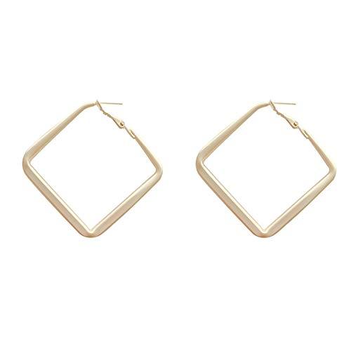 Pendientes mujer oro mate geométrico retro pendientes s925 plata aguja pendientes