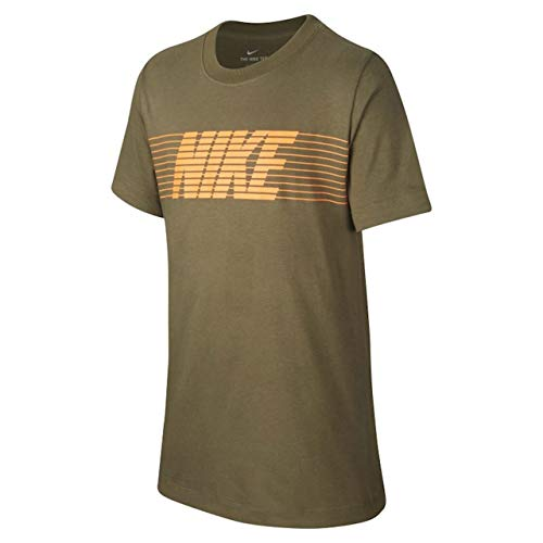 Nike unisex kinderen Nsw Therma Fleece T-shirt, groen (medium olijf), (maat fabrikant: Small)