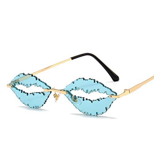 SXRAI Gafas de Sol sin Montura Mujer Hombre Moda Gafas de Sol Sombras Gafas Uv400 Hombres,C7