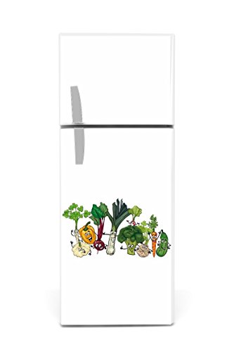 Kühlschrank Aufkleber 60 x 90 cm Gemüse Gesichter