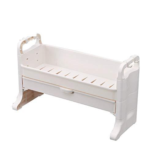 X&MM Desktop Cosmetici Storage Box Bagno in plastica Rack cassetto Vanity Dressing Box Toilette Finitura
