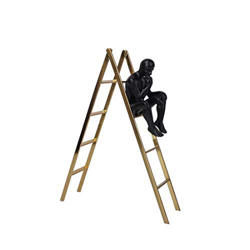 ChHalS Welkom thuis decoraties Trap denker decoratie Eenvoudige moderne kunstenaar huissieraden hotel model kamer studie kamer display kast decoratie creatieve ladder zachte meubels accessoires