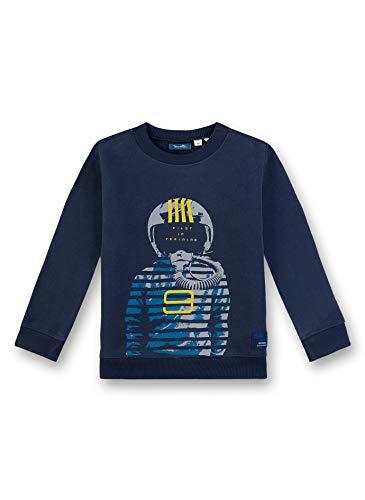 Sanetta Jungen Sweatshirt, Blau (Nordic Blue 5962), 92 (Herstellergröße: 092)