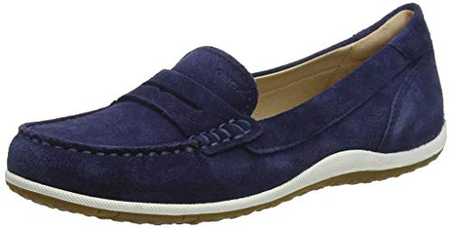 Geox Damen D Vega Moc A Mokassin, Blau (Blue C4000), 41 EU