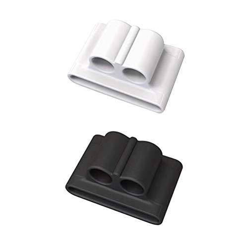 HEMOBLLO 2pcs Cuffie senza fili Supporto anti-perso Porta resistente agli urti per AirPods (bianco e nero)
