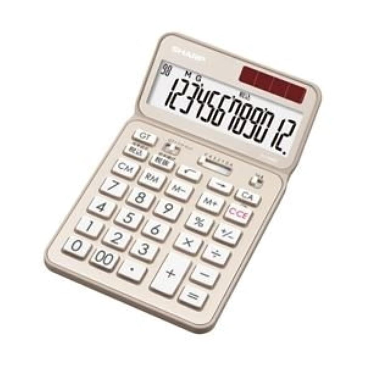 シャープ 電卓 12桁 (ナイスサイズタイプ) シャンパンゴールド EL-VN-82-NX
