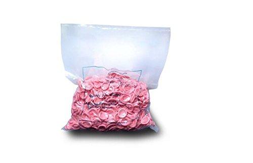 Aituo 500 pcs Servicio médico de protección desechables guantes de látex dedo cunas dedos de seguridad Industrial, rosa, 500