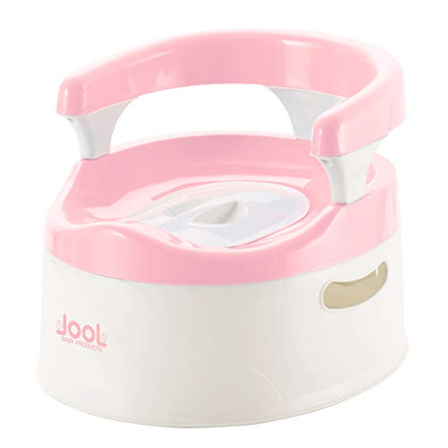 Child Potty Training Chair for Girls (Pink), Handles & Splash Guard - Comfortable Seat for Toddler - Jool Baby