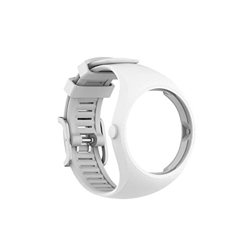 LXF JIAJU Correas de Pulsera para Polar M200 Deportes SmartWatch Reemplazo Pulsera de Banda de Reloj con Herramientas Reloj Bandas de Correa (Color : White, Size : For Polar M200)