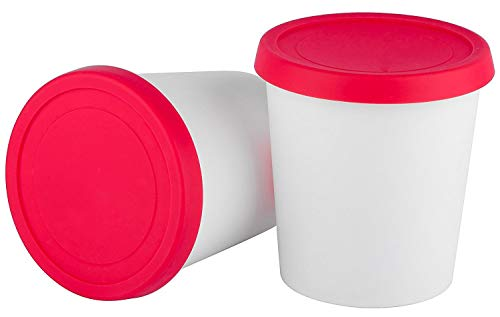 StarPack Premium Ice Cream Freezer Storage Containers - Set of 2 with Lids