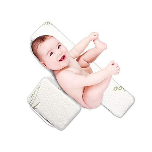 Seitenkissen Baby, Einstellbare 45° Babys Side Schlafkissen,Vermeidbar Flachkopf-syndrom Baby Abnehmbar Und Waschbar Memory Baby Bambusfaser Seitenschläferkissen (0-12 Months)
