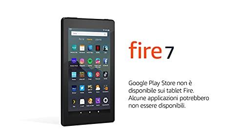 Tablet Fire 7, schermo da 7', 32 GB, (Nero) - Con pubblicità
