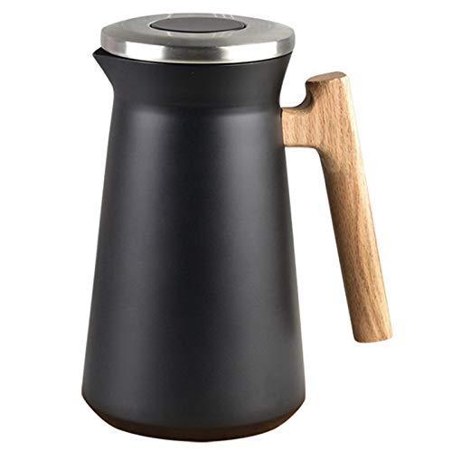 WLYXZQ Jarra de café térmica de acero, aislada al vacío, para té, bebidas infundidas y cepillo de limpieza de 34 onzas