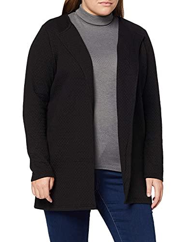 Vila Clothes Damen VINAJA New Long JKT Blazer, Schwarz (Black), 38 (Herstellergröße: M)