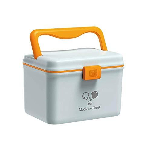 xingguang Cofre de medicina de 3 colores mini caja médica maleta médica caja de almacenamiento médica caja organizadora de almacenamiento organizador de plástico (color: 1)