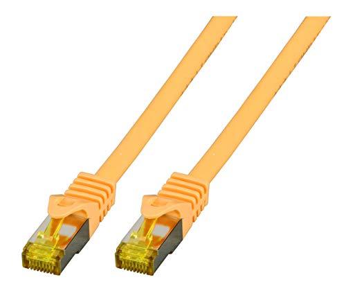 EFB-Elektronik RJ45 Patchkabel S/FTP,Cat.6A,LSZH,Cat.7 Rohkabel,2m,Gelb