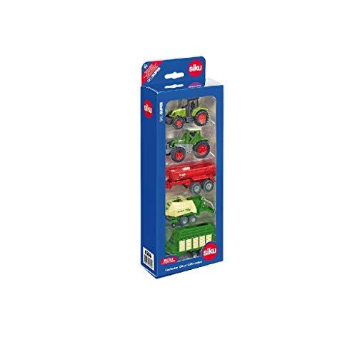 SIKU 6286, Coffret Cadeau 7 - Agriculture, Métal/Plastique, Multicolore, Assortiment De Jouets Compatibles, Pièces Mobiles, 2 Tracteurs, 3 Remorques