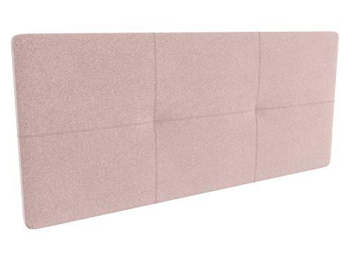 LA WEB DEL COLCHON - Cabecero tapizado Andrea para Cama de 90 (100 x 70 cms) Rosa Palo Textil Suave