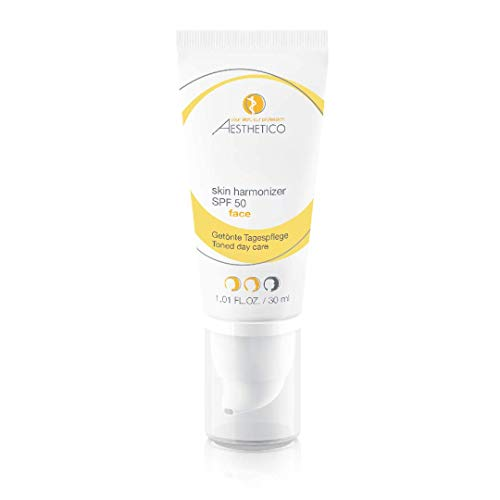 AESTHETICO skin harmonizer SPF 50 - Getönte Tagespflege mit hohem Lichtschutzfaktor für Akne, kaschiert Rötungen und wirkt antientzündlich, Make-up Ersatz, 30 ml