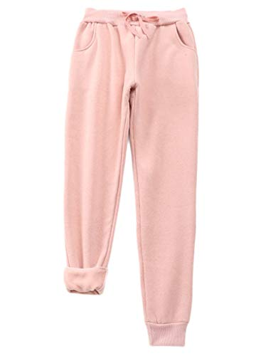 Affordable Andongnywell Women's Winter Warm Sherpa Lined Sweatpants Active Running Jogger Pants (Pin...