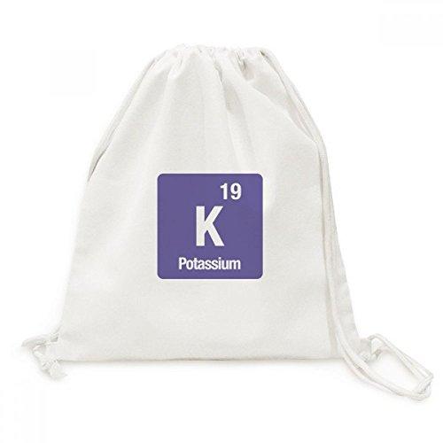 DIYthinker K Kalium chemisches Element Chem Canvas-Rucksack-Reisen Shopping Bags