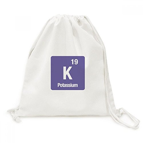 DIYthinker K Kalium chemisches Element Chem Canvas-Rucksack-Reisen Shopping Bags
