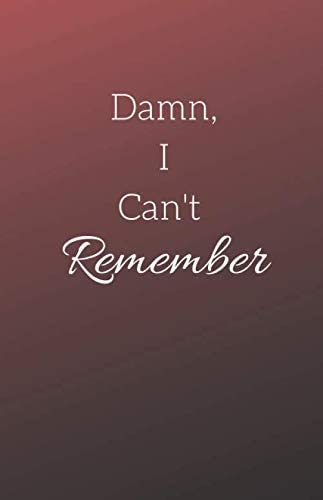 Damn I Can t Remember Password Book Internet Login Notebook Organizer with Alphabetical Tabs product image