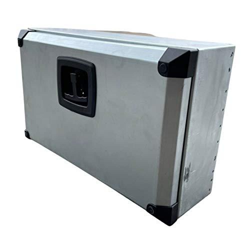 cassetta attrezzi zincata Generico Cassetta Porta Attrezzi per Piaggio Porter Adattabile a Tutti i Modelli Porta Utensili Baule Box Cassa Auto (50x30x17)