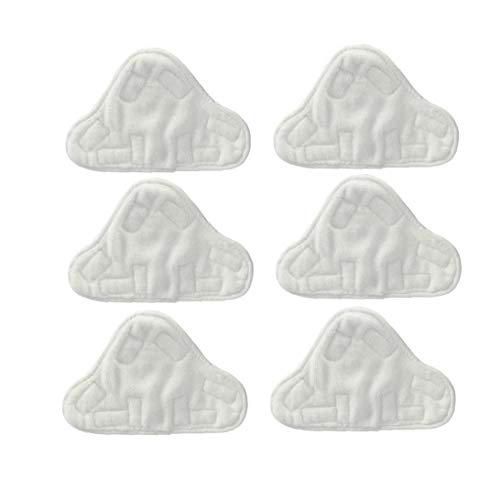 Hotaden Microfibre Coussinets en Tissu pour s'adapter Vax, Bionaire, Efbe-Schotte, Montiss et Delta Vapeur Mops (Pack de 6)