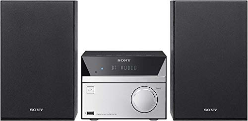 Sony CMT-SBT20 Compact Hi-Fi System with CD Bluetooth NFC - Black Silver