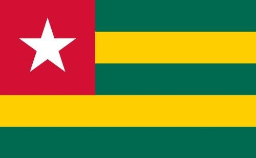 Qualitäts Fahne Flagge Togo 90 x 150 cm mit verstärktem Hissband