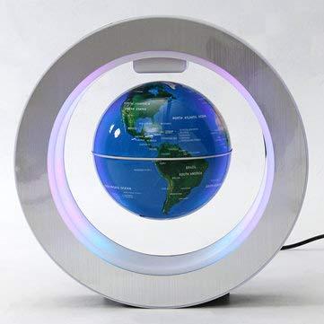 ExcLent Led Elektronische Magnetische Schwimmende Globus Levitation Decor Planet Erde Karte Geschenk - Blau