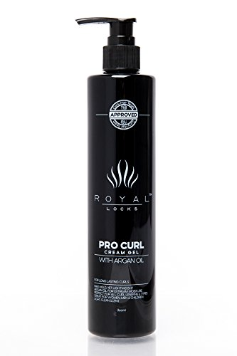 Royal Locks Pro Curl Cream Gel, Curl Defining Cream for Curly Hair with Argan Oil