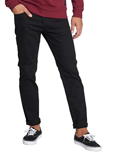 JACK & JONES Herren JJITIM JJORIGINAL CR 068 Slim Jeans, Schwarz (Black Denim Black Denim), W33/L34