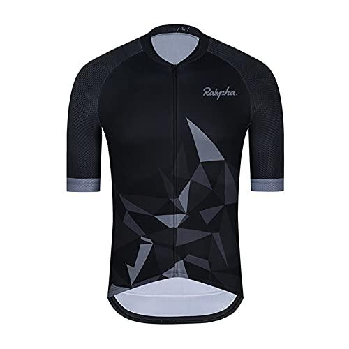 Jersey de Ciclismo para Hombre Camisetas de Ciclismo para Hombres Tops Camisas de Ciclismo de Manga Corta Ropa para Bicicletas para Bicicleta Transpirable Maillot de Ciclismo para Hombre
