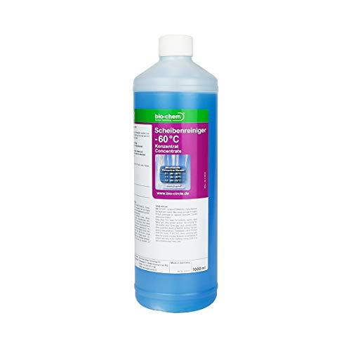 Bio-Chem Scheibenreiniger -60°C 1000 ml Super-Spar Konzentrat Anti-Frost Scheibenfrostschutz Frostschutzmittel Scheibenklar Windschutzscheibe Scheibenwaschanlage Scheiben-Enteiser