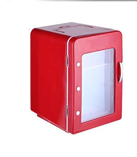ZHAOJBX Mini Nevera Roja 4L, Apta para Cerveza, Refrigeración de Alimentos Y Leche, Apta para Interiores, Automóviles, Oficinas