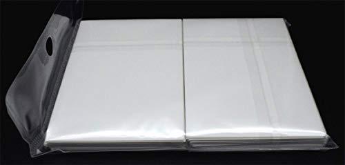 docsmagic.de 100 Double Mat White Card Sleeves Standard Size 66 x 91 - Blanco - Fundas - PKM MTG