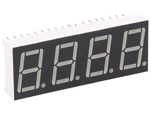 2x KW4-562AVB Display LED 7-segment 14.2mm red 40-80mcd anode No.char 4