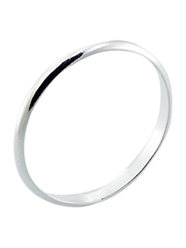 Sterling Silver 2mm Band Ring In Sizes G-Z (K)