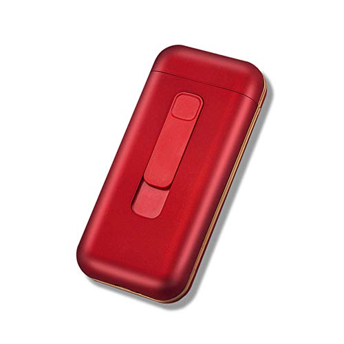 Estuche de cigarrillos a prueba de agua con encendedor eléctrico USB separable...